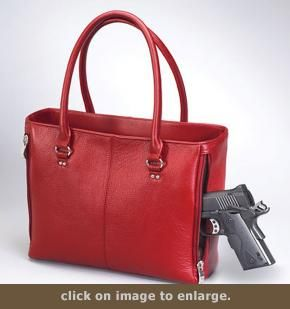 Concealed Carry Purse - Traditional Open Top Tote | GunHandbags.com