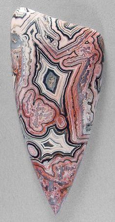 Laguna lace agate cab. Silverhawk's designer gemstones.