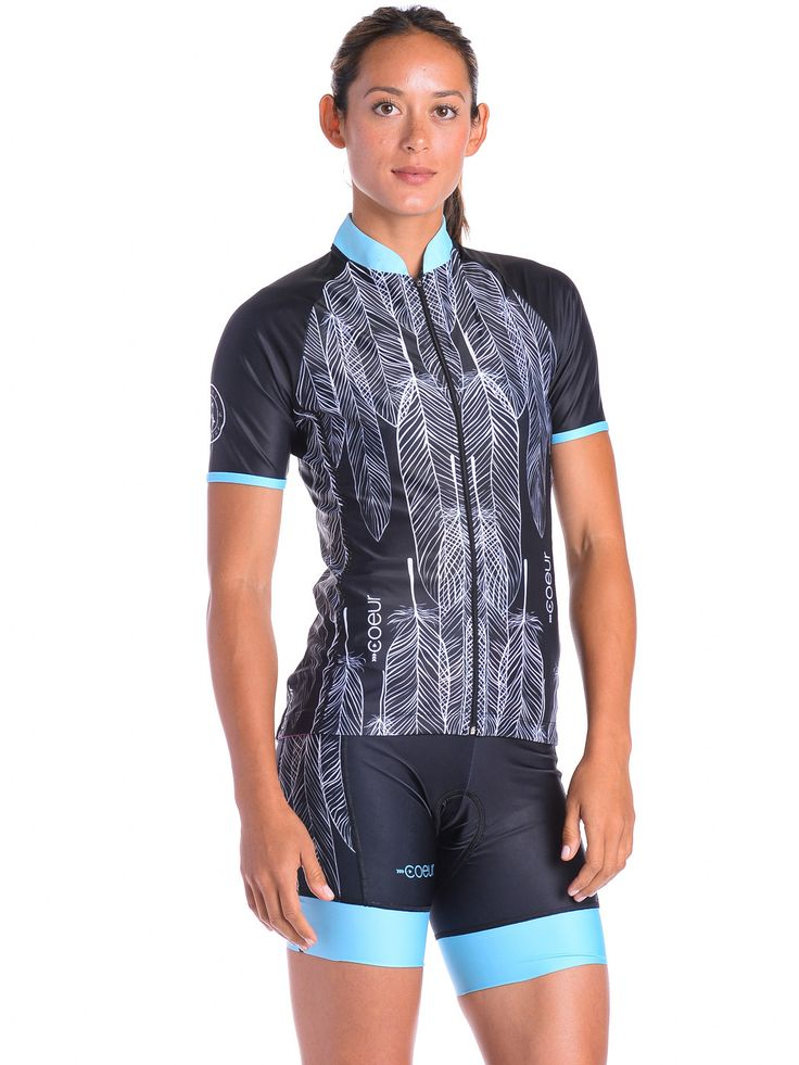 Women's Cycling Jersey Our women's cycling jerseys fit and flatters feminine curves. Silicone gripper at the rear hem means it won't ride up when you are in your handlebars. They have three deep rear