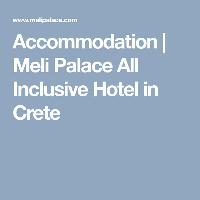 Accommodation | Meli Palace All Inclusive Hotel in Crete