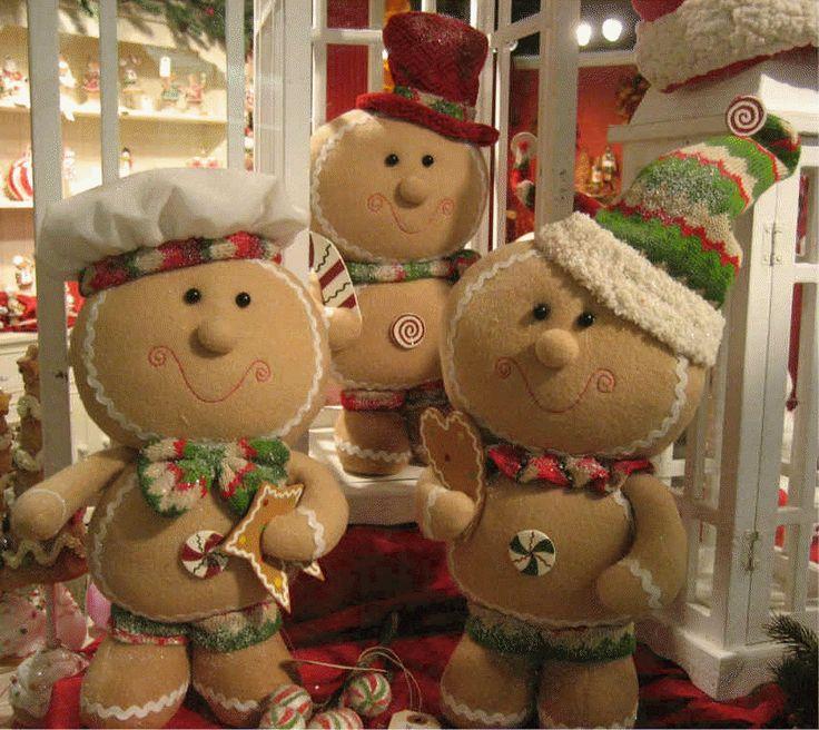 Standing Big Head Gingerbread ornaments, christmas