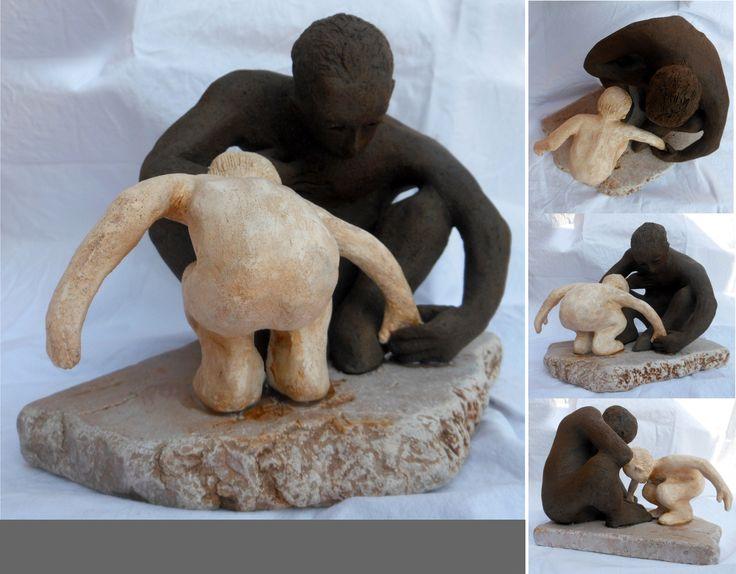 """Sabbiadoro"" - Fired clay on marble, 2015."