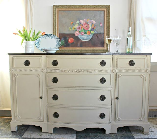 Heir and Space: A Mahogany Sideboard in Cream