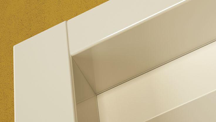 FBP porte | Collezione DEA - Dettaglio telaio #fbp #porte #legno #laccata #door #wood #varnish