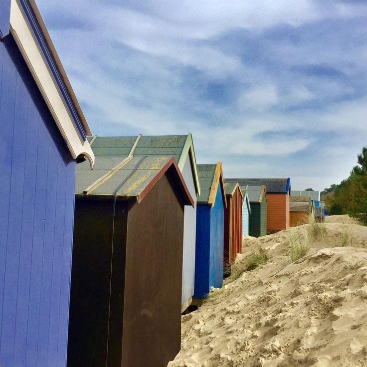 Wells next Sea beach huts, love all the colours!