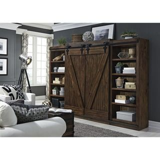 Shop Kate and Laurel Cates Rustic Wood Wall Storage Cabinet with Barn Doors – Free Shipping Today – Overstock.com – 16838745