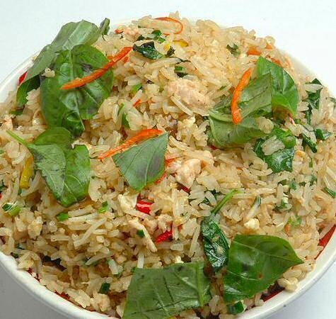 Thai Basil Fried Rice | food and drink | Pinterest