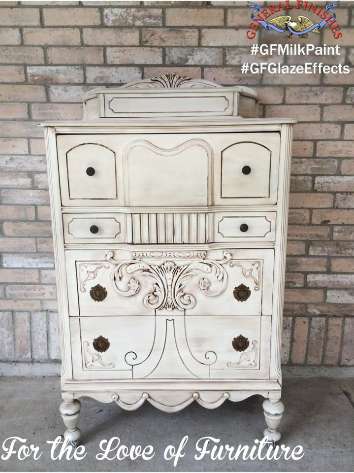 This Dresser Was Painted With General Finishes Antique