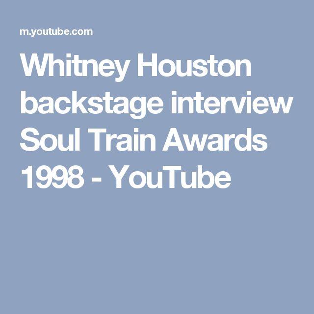 Whitney Houston backstage interview Soul Train Awards 1998 - YouTube