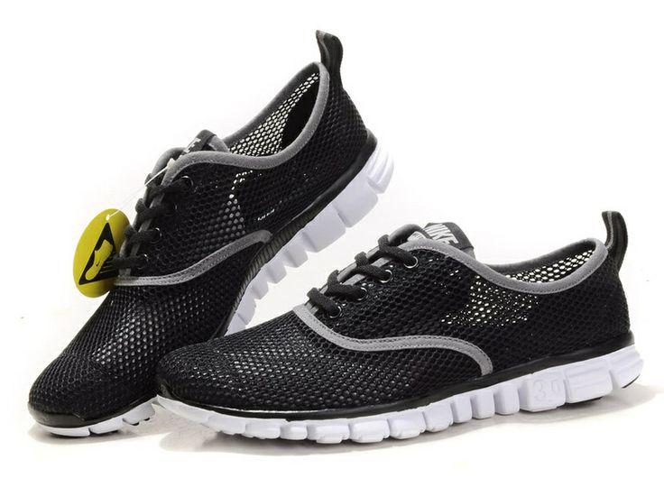 86b474221f35 Nike Free 3.0 V4 Black Grey Running Shoes  Black  Womens  Sneakers