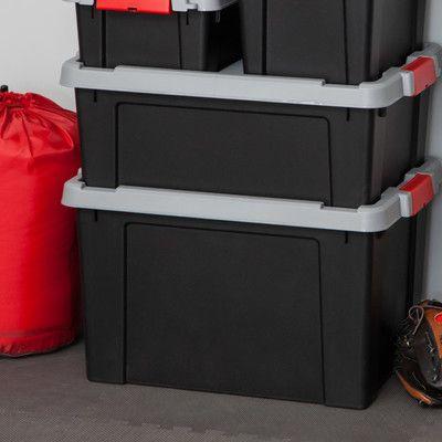 IRIS Store It All Plastic Storage Totes Color: Black