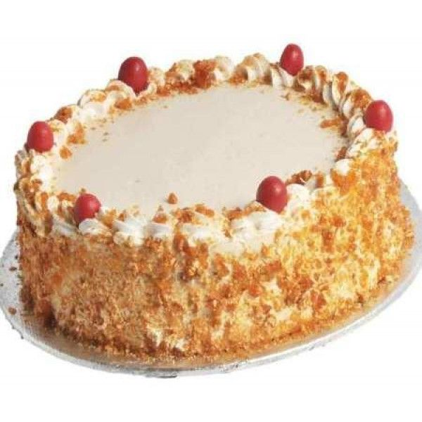 half Kg #Butterscotch Cake There may be several reasons you are missing someone #special. However, you can surprise him/ her by sending this #delicious #Butterscotch cake and convey your #feelings. Made with whipped cream and butterscotch chips, it is quite an easy way to make him feel special.