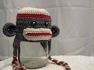 Sock Monkey hat: Sock Monkey Hat, Sock Monkeys, Knotty Crochet, Crochet Hats, Hat Patterns, Crochet Sock, Crochet Patterns, Knotty Knotty