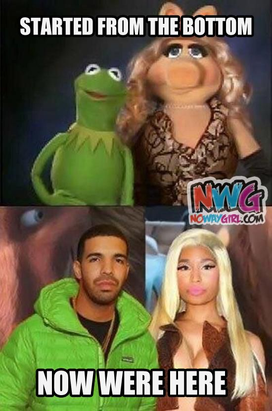 Drake And Nicki Minaj Or Kermit And Miss Piggy?     Lolol!!