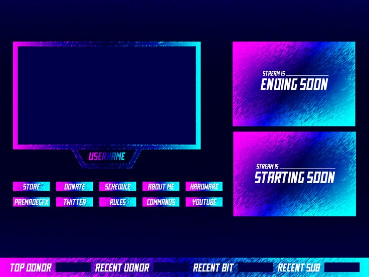 Neon Twitch Overlay Overlays, User interface, Neon