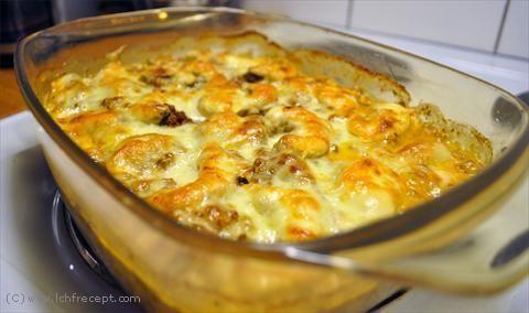 LCHF Recept: Ackos champijon- & köttfärsgratäng | LCHF Recept.com