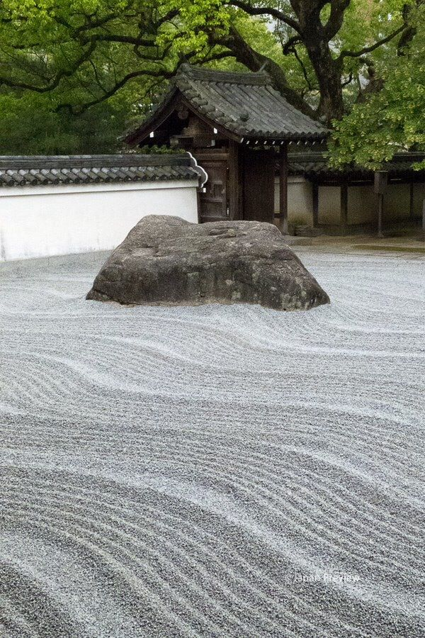 Outdoor with only a rock, sands and perfection. #zen #peace