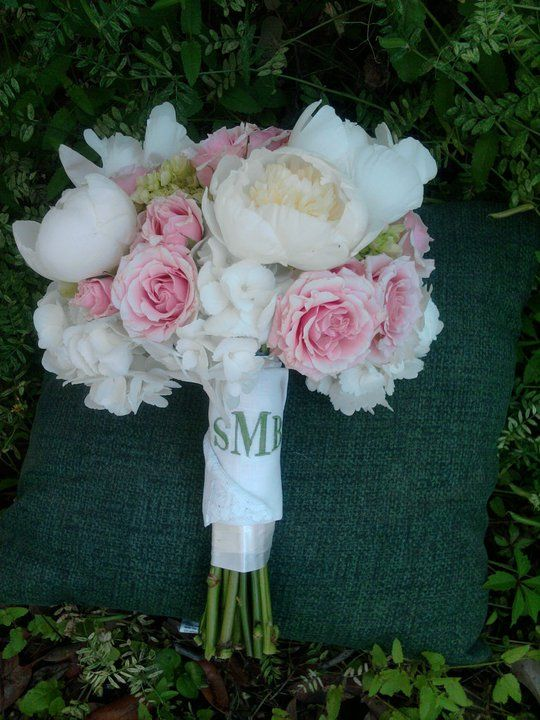 hydrangeas, peonies, spray roses bouquet