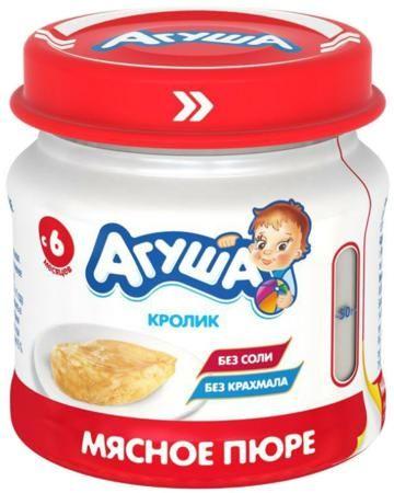 Агуша Кролик 80 г  — 94р. -------------------------------------- Пюре Агуша Кролик 80 г - диетический продукт для малышей, склонных к аллергиям и анемии. Крольчатина богата витаминами PP, C, B6 и B12, железом, фосфором, кобальтом, калием, марганцем, фтором и белком. При этом мясо кролика легко усваивается малышами в во...