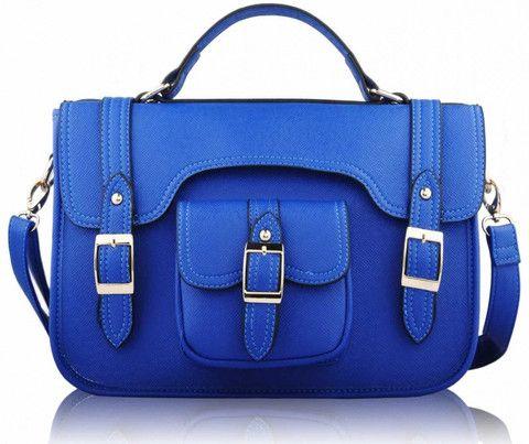 Blue Classic Buckle Satchel Bag - Satchels and Shoes