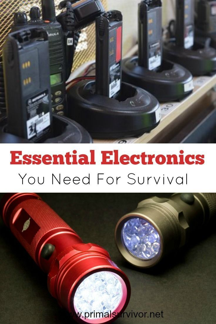 5 Essential Electronics You Need for Survival. Discusses portable solar power, hand cranked power, two-way radio, HAM radio, flashlights and medical supplies.