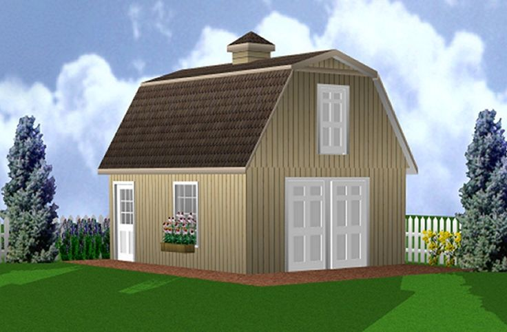 17 best images about mini barns on pinterest models for Barn shed with loft plans