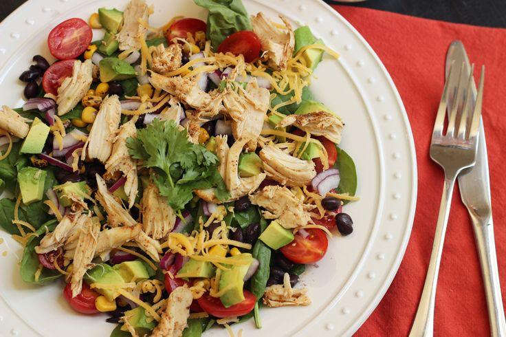 Santa Fe Salad with Chicken and Corn | Recipe | Santa fe salad, Other ...