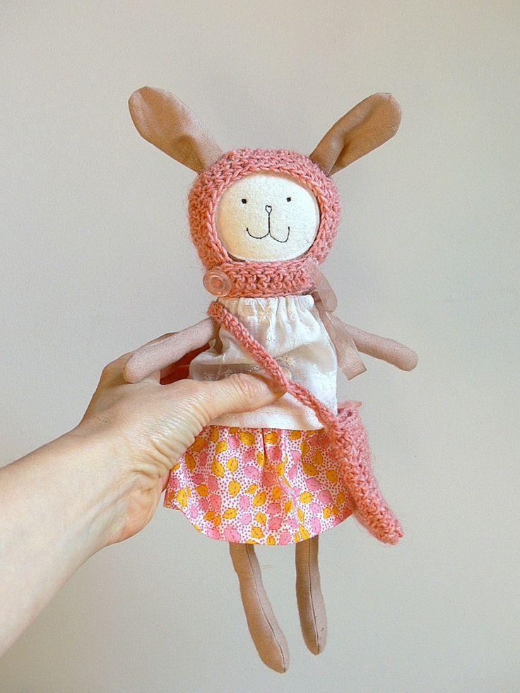 Stuffed Bunny Toy, Dress up Doll - ELENA by MiniwerkaToys on Etsy