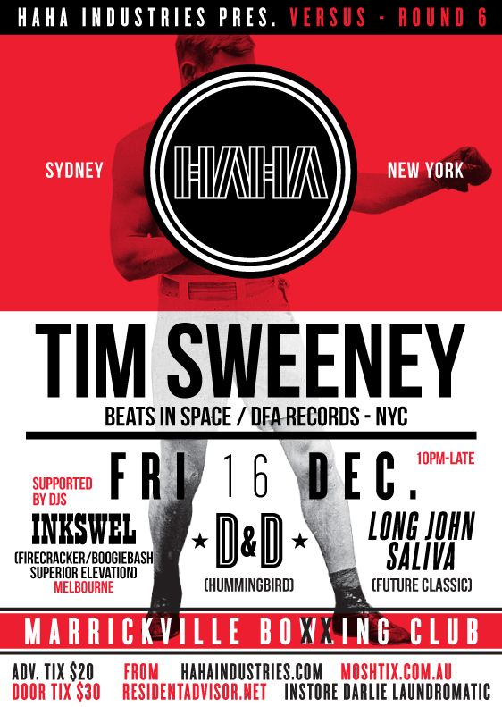 Versus with Tim Sweeney (Beats in Space) @ Marrickville Bowling Club, 16/12/11