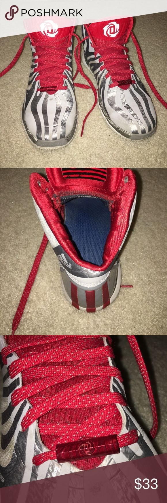 Derrick Rose Men's Basketball Shoe In amazing condition, worn for one season of basketball. Added insoles for comfort. Adidas Shoes Athletic Shoes