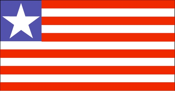 The Liberia flag was officially adopted on July 26, 1847. The flag is modeled after the U.S Stars and Stripes.            The red and white stripes represent the eleven signers of the Liberian Declaration of Independence. The white star is symbolic of African Unity.