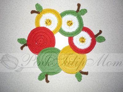 PinkTulipMom - Mosolyra horgol...: Almás poháralátétek