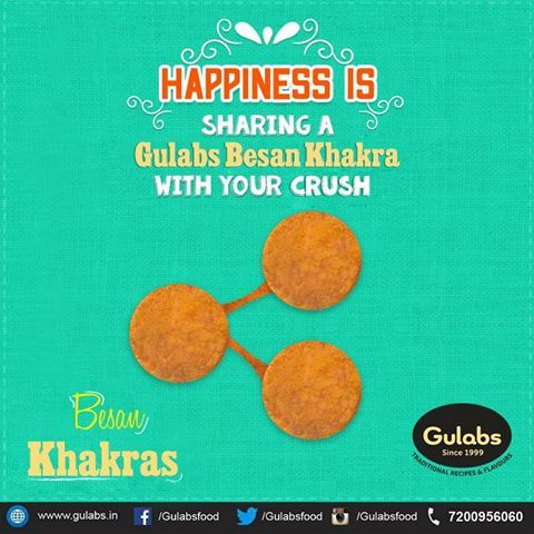 Happiness is in small things :)  #gulabs #khakhra #basinkhakra #snack #quickbite #snack #snacktime