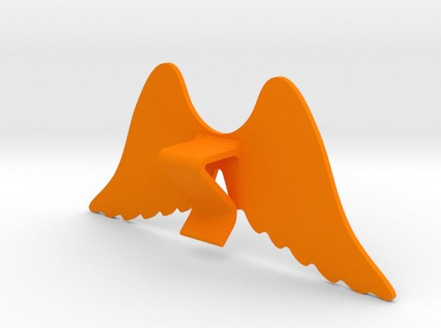 Mug & glass accessories wings 4 3d printed Accessories For Your Home Orange Strong & Flexible Polished - https://www.shapeways.com/model/2758955/mug-glass-accessories-wings-4.html?materialId=6