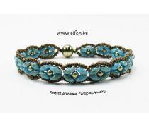 Pakket Armband : Rosette Turquoise