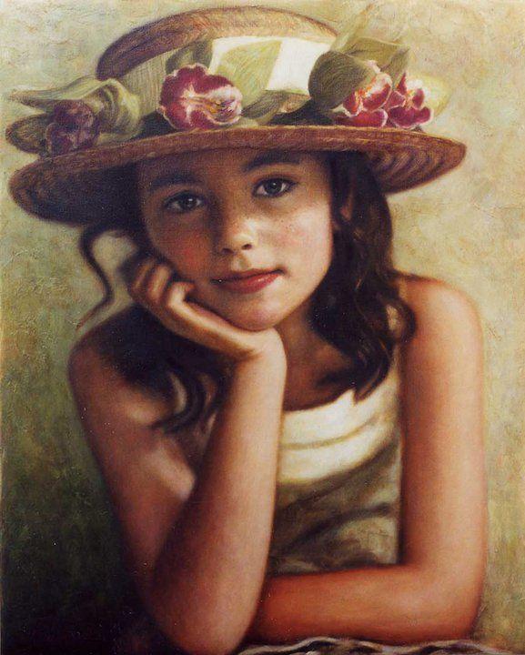 Children in art | Odysseas Oikonomou 1967 | Albanian-Born Greek painter