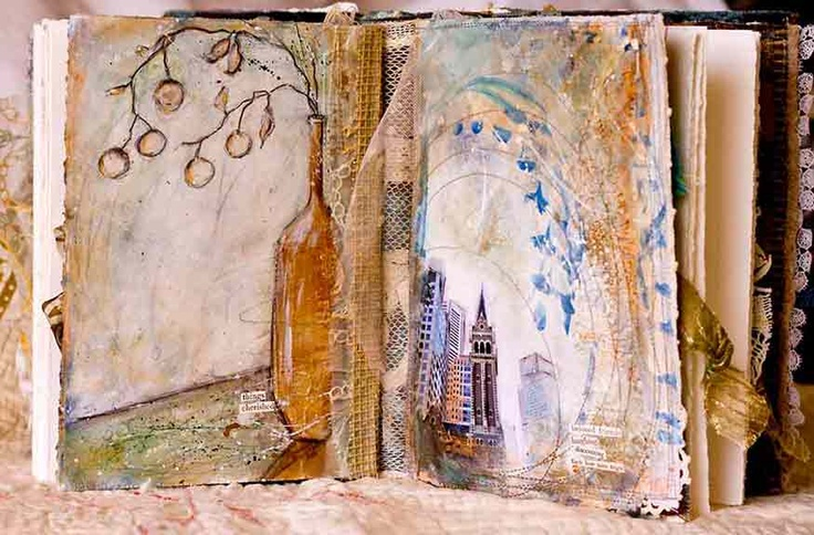 Beautiful mixed media books and journals