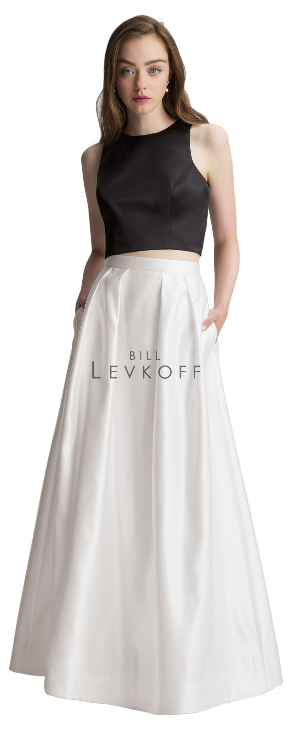 58 best bill levkoff images on pinterest bridesmaids flower european satin two piece gown sleeveless jewel neck top with princess seams a ombrellifo Image collections