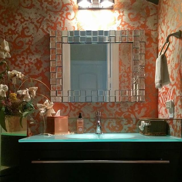 Dramatic Powder Bath Decorative Wall Finish By Michele