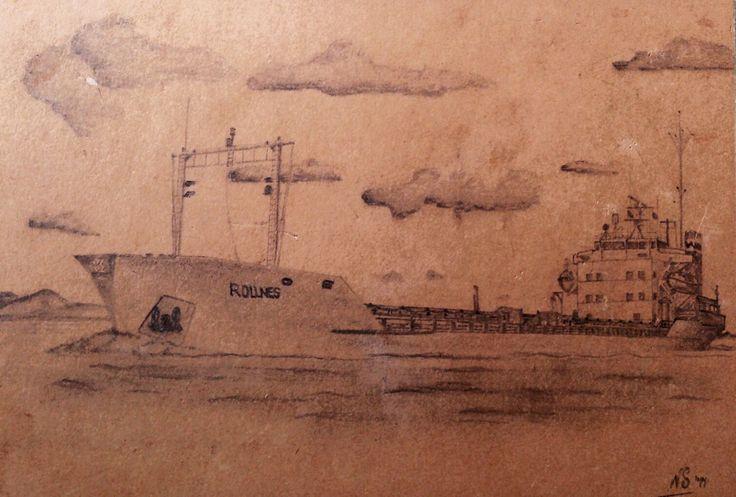 MV Rollnes. Christian Jebsen. My first ship.