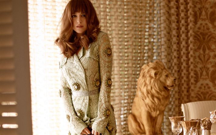 Download wallpapers Dakota Johnson, Hollywood, 2017, beauty, brunette, beautiful woman