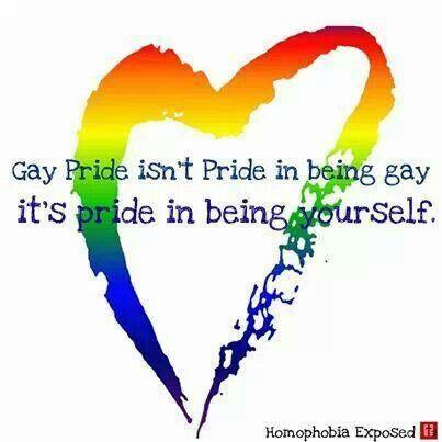 Gay pride isn't pride in gay, it's pride in being yourself.