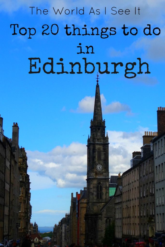 Top 20 Things to do in Edinburgh. ... http://scotfin.com/scot-fin-novel/ says, I'd be challenged to keep this to only a top 20 list.