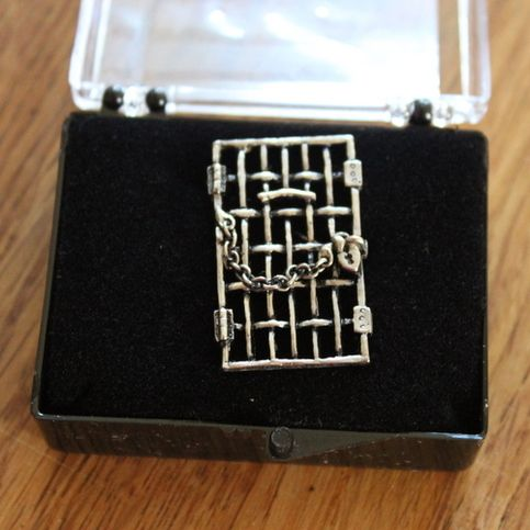 """Replica """"Jailed for Freedom"""" Pin sold by Susan B. Anthony Birthplace. Shop more products from Susan B. Anthony Birthplace on Storenvy, the home of independent small businesses all over the world."""
