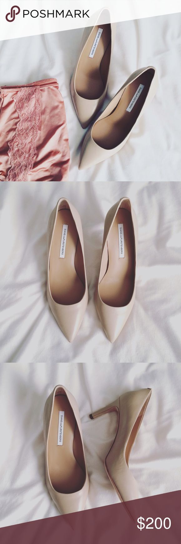 DVF Classy Cream Pumps Classy and always in style. Great condition! Worn once. 💕 Price firm 😊 Diane von Furstenberg Shoes Heels