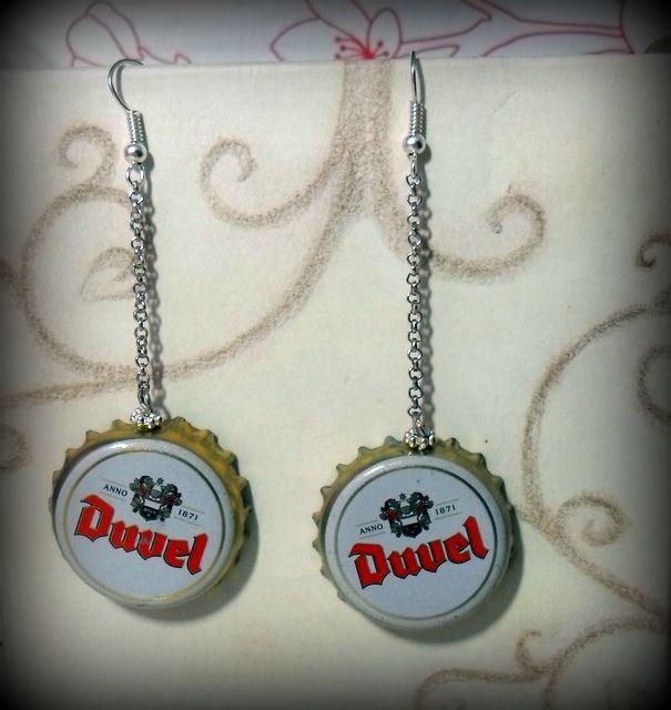Beer caps earrings