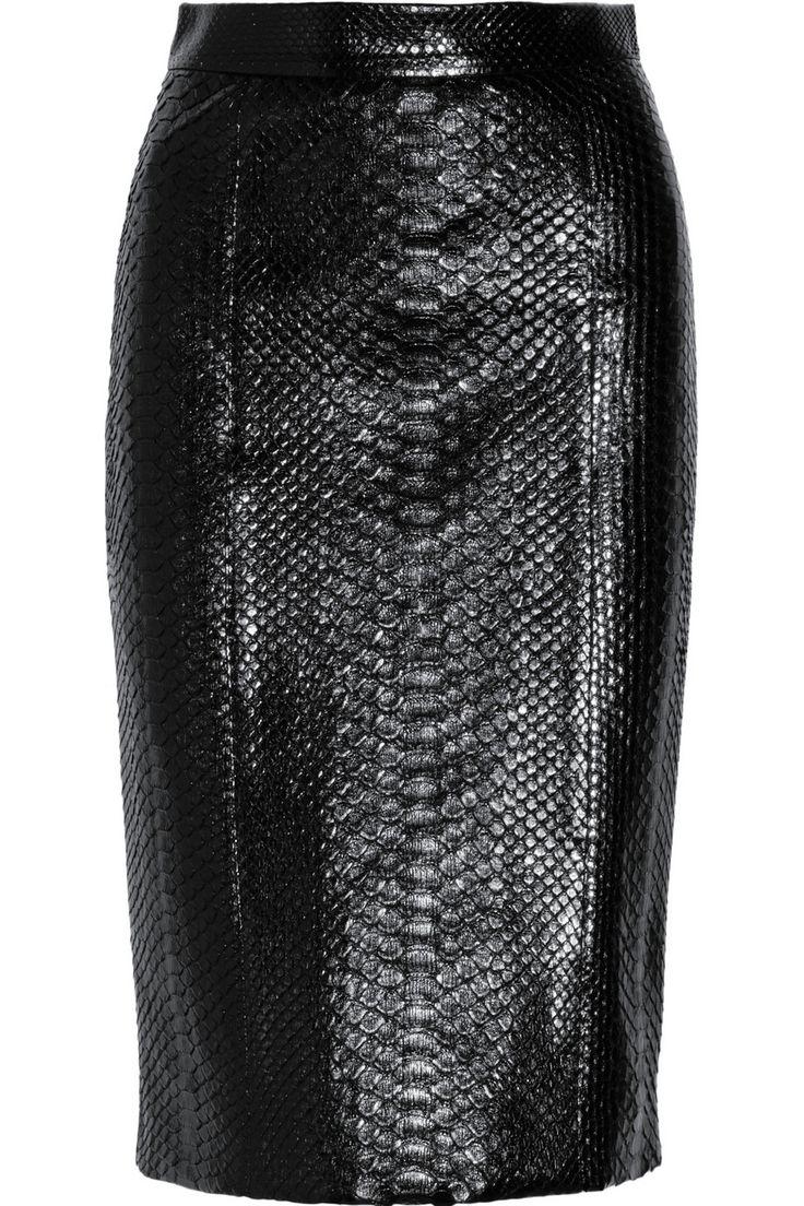 Gucci|Python pencil skirt|NET-A-PORTER.COM