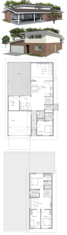 Narrow House Plan Floor Plan from ConceptHomecom