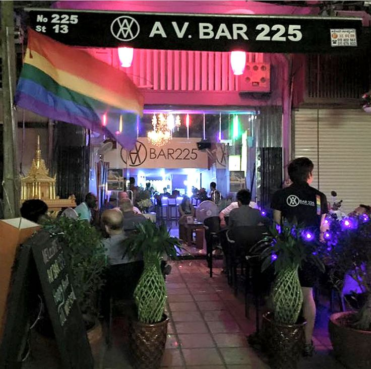 Cambodia cool: AV Bar 225 is the new gay and lesbian hang-out in Phnom Penh. Find them at http://www.utopia-asia.com/phnobars.htm