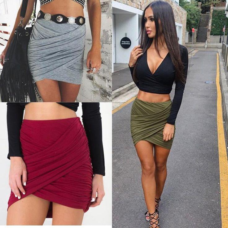 Aliexpress.com: Koop 2016 Amerikaanse Kleding Street Fashion Vrouwen Lady Hoge Taille Korte Rok Sexy Bandage Bodycon Kruis Vouw Potlood Rokken 5 Kleuren van betrouwbare rok size leveranciers op Kiss Boutique